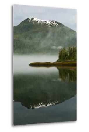 USA, Alaska. Morning Fog on Lake-Jaynes Gallery-Metal Print