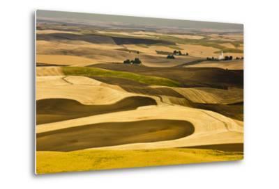 Palouse Fields, from Steptoe Butte, Steptoe Butte Sp, Washington-Michel Hersen-Metal Print