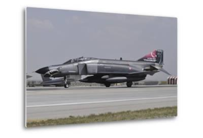 A Turkish Air Force F-4E 2020 Terminator Ready for Take-Off-Stocktrek Images-Metal Print