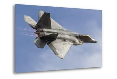 A U.S. Air Force F-22 Raptor Makes a Fast Flyby-Stocktrek Images-Metal Print