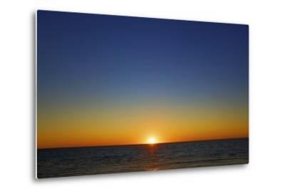 Sunset Impression at Ocean-Frank Krahmer-Metal Print