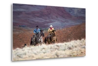 Cowboys at Full Gallop-Terry Eggers-Metal Print