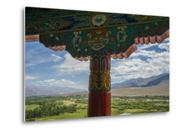 Spituk Monastery, near Leh, View of Indus Valley-Guido Cozzi-Metal Print