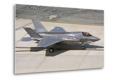 F-35B on the Flight Line Nellis Air Force Base, Nevada-Stocktrek Images-Metal Print