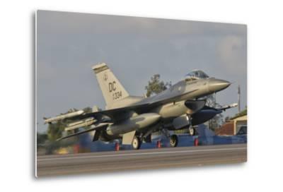 U.S. Air Force F-16 Fighting Falcon Taking Off-Stocktrek Images-Metal Print