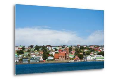 Falkland Islands. Stanley. View from the Water-Inger Hogstrom-Metal Print