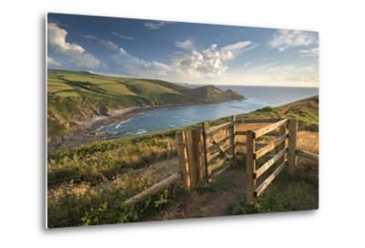 Kissing Gate on the South West Coast Path Near Crackington Haven, Cornwall, England-Adam Burton-Metal Print