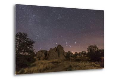 Orion Rising at the City of Rocks State Park, New Mexico-Stocktrek Images-Metal Print