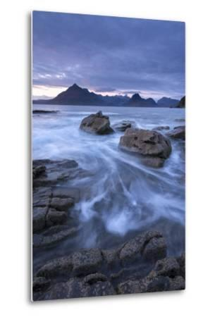 The Black Cuillin Mountains from the Rocky Shores of Elgol, Isle of Skye, Scotland-Adam Burton-Metal Print