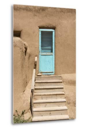 New Mexico. Taos Pueblo, Architecture Style from Pre Hispanic Americas-Luc Novovitch-Metal Print