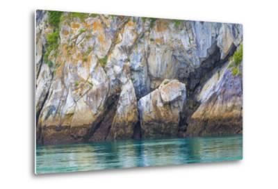 Alaska, Glacier Bay National Park. Cliff Reflects in Seawater-Jaynes Gallery-Metal Print