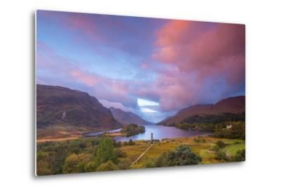 Glenfinnan Monument to the 1745 Landing of Bonnie Prince Charlie at Start of the Jacobite Rising-Alan Copson-Metal Print