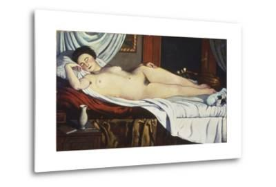 Sleeping Venus, (Naked Woman on a Bed) Woman-Pietro Marussig-Metal Print