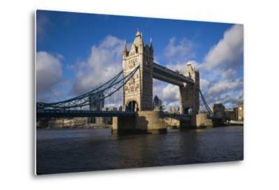 England, London, Tower Bridge, Late Afternoon-Walter Bibikow-Metal Print