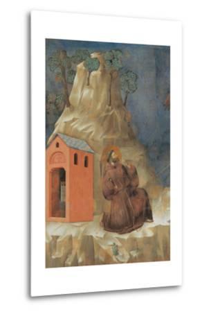 St. Francis Receiving Stigmata-Giotto-Metal Print