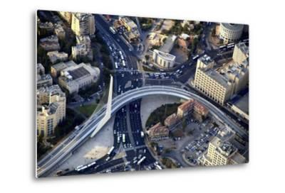 Air View of the Calatrava Bridge.-Stefano Amantini-Metal Print