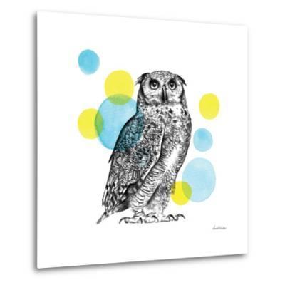 Sketchbook Lodge Owl-Lamai McCartan-Metal Print