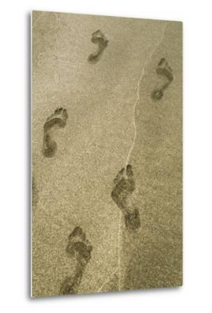 Footprints in the Sand, Puerta Vallarta, Mexico-Julien McRoberts-Metal Print