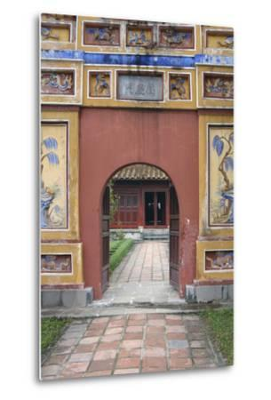 Asia, Vietnam. Arched Entrance Gate, the Citadel, Hue, Thua Thien?Hue-Kevin Oke-Metal Print