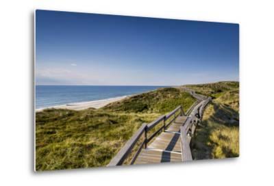 Wodden Path in the Dunes, Wenningstedt, Sylt Island, Northern Frisia, Schleswig-Holstein, Germany-Sabine Lubenow-Metal Print