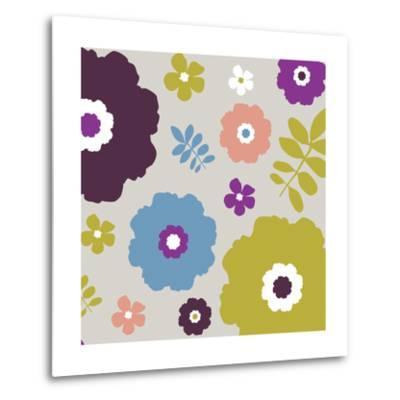 Sweet Floral III-Nicole Ketchum-Metal Print