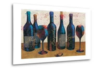 Wine Splash Light I-Jim Wellington-Metal Print