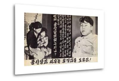 Propaganda Leaflet Distributed by United Nations Forces Lead by U.S. During the Korean War, 1950-53--Metal Print
