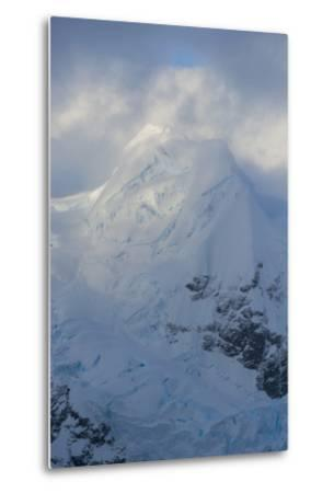 Antarctica. Paradise Harbor. Snowy Mountains and Clouds at Sunrise-Inger Hogstrom-Metal Print