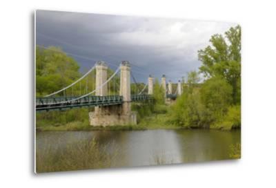 France, Centre, Chatillon Sur Loire. Pont De Chatillon Sur Loire-Kevin Oke-Metal Print