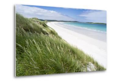 Sandy Beach with Dunes.North Uist Island, Scotland-Martin Zwick-Metal Print