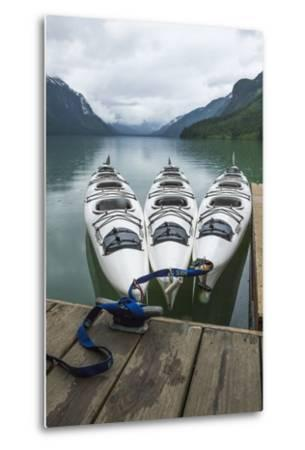 Chilkoot Lake, Kayaks at the Dock Haines, Alaska-Michael Qualls-Metal Print