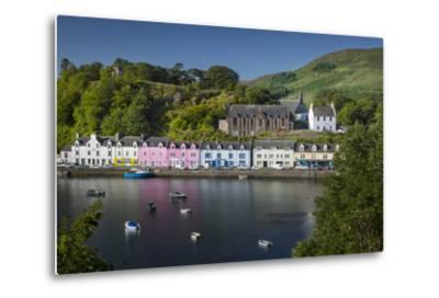 Small Town of Portree on the Isle of Skye, Scotland-Brian Jannsen-Metal Print