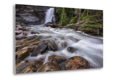 Baring Falls in Glacier National Park, Montana, USA-Chuck Haney-Metal Print