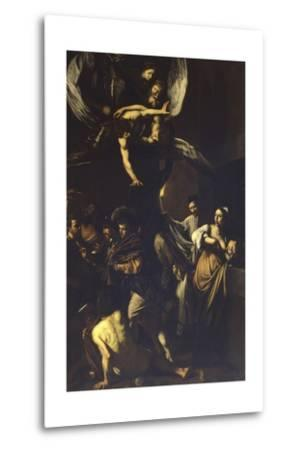 Seven Acts of Mercy-Caravaggio-Metal Print