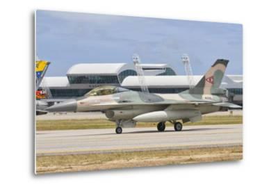 Venezuelan Air Force F-16 at Natal Air Force Base, Brazil-Stocktrek Images-Metal Print