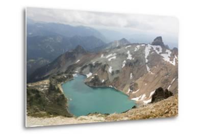 Wa, Alpine Lakes Wilderness, Circle Lake, View from Mount Daniel-Jamie And Judy Wild-Metal Print