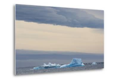 Antarctica. Brown Bluff. Bright Blue Iceberg-Inger Hogstrom-Metal Print