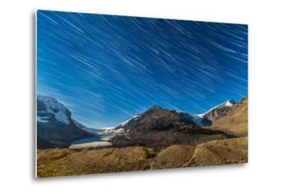Star Trails over Columbia Icefields-Stocktrek Images-Metal Print