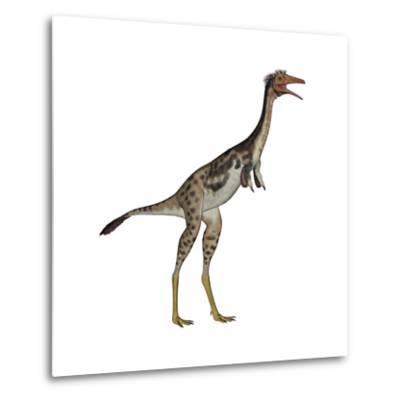 Mononykus Dinosaur Standing-Stocktrek Images-Metal Print
