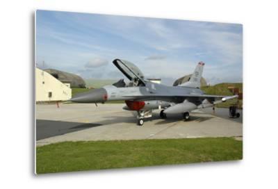 U.S. Air Forces Europe F-16Cj Block 50 at Spangdahlem Air Base, Germany-Stocktrek Images-Metal Print