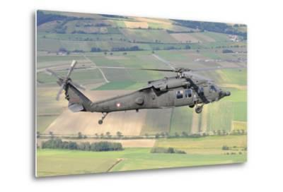 Uh-60 Black Hawk Helicopter of the Austrian Air Force in Flight-Stocktrek Images-Metal Print