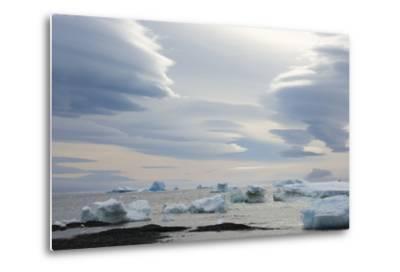 Antarctica. Brown Bluff. Lenticular Clouds Show Katabatic Winds-Inger Hogstrom-Metal Print