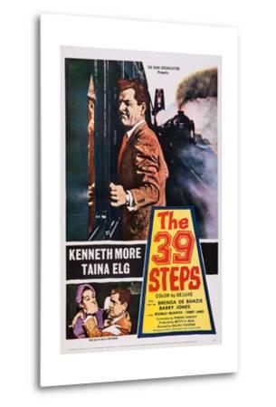 The 39 Steps, Kenneth More (Top), Bottom from Left: Taina Elg, Kenneth More, 1959--Metal Print