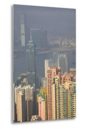 China, Hong Kong, View of Downtown Area from the Peak Viewing Area-Terry Eggers-Metal Print