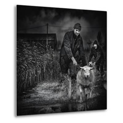 Escape from the Flood-Piet Flour-Metal Print