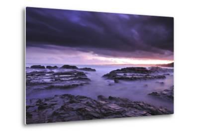 Sunset on Beach Near Melbourne, Australia-Keith Ladzinski-Metal Print