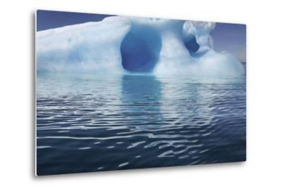 Seascape of an Iceberg and the Rippling of the Ocean's Surface-Jim Richardson-Metal Print