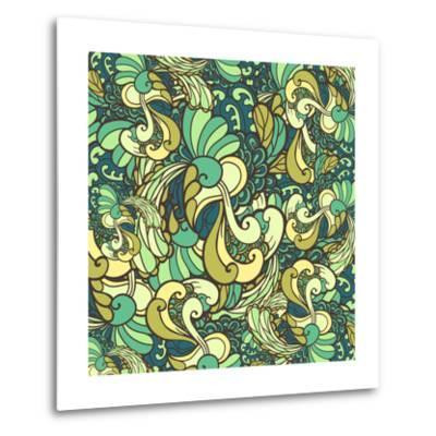 Vector Texture with Abstract Plants.-Marylia-Metal Print