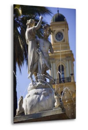 Fountain Dedicated to Simon Bolivar in Santiago-Jon Hicks-Metal Print