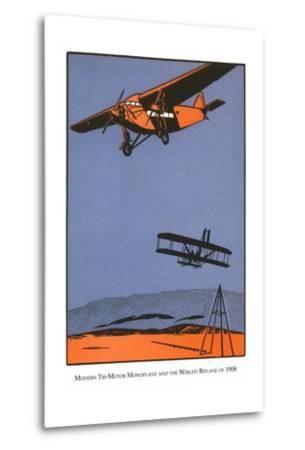 Bi-Plane and Monoplane-Found Image Press-Metal Print